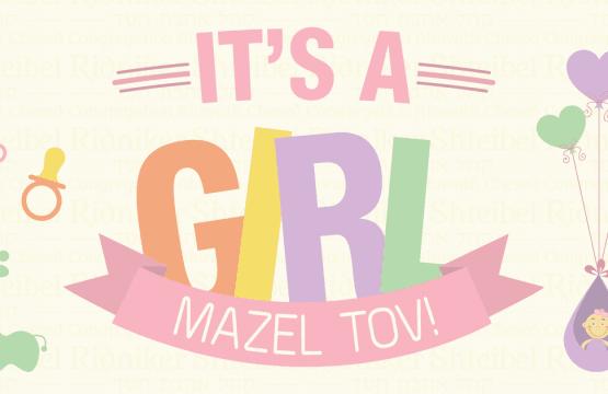Mazal Tov..it's a girl