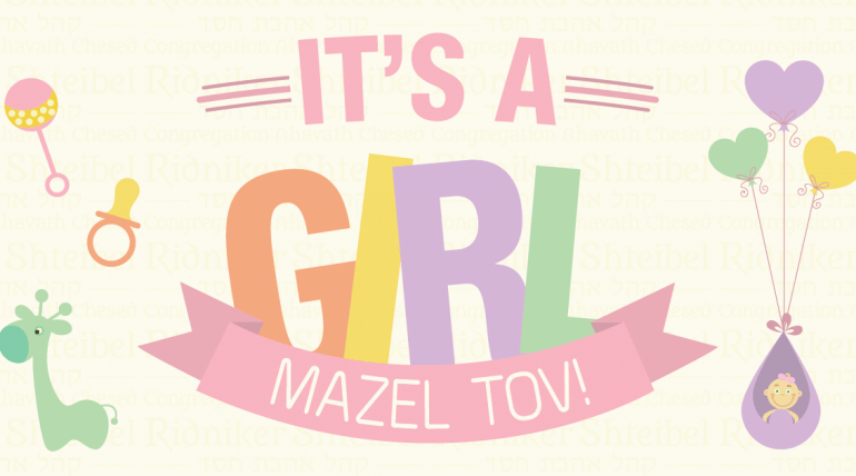Mazal Tov..it's a girl