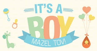 Mazal Tov it's a boy